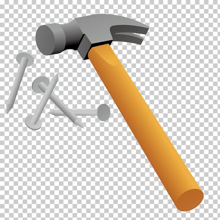 Hammer Nail, model hammer PNG clipart.