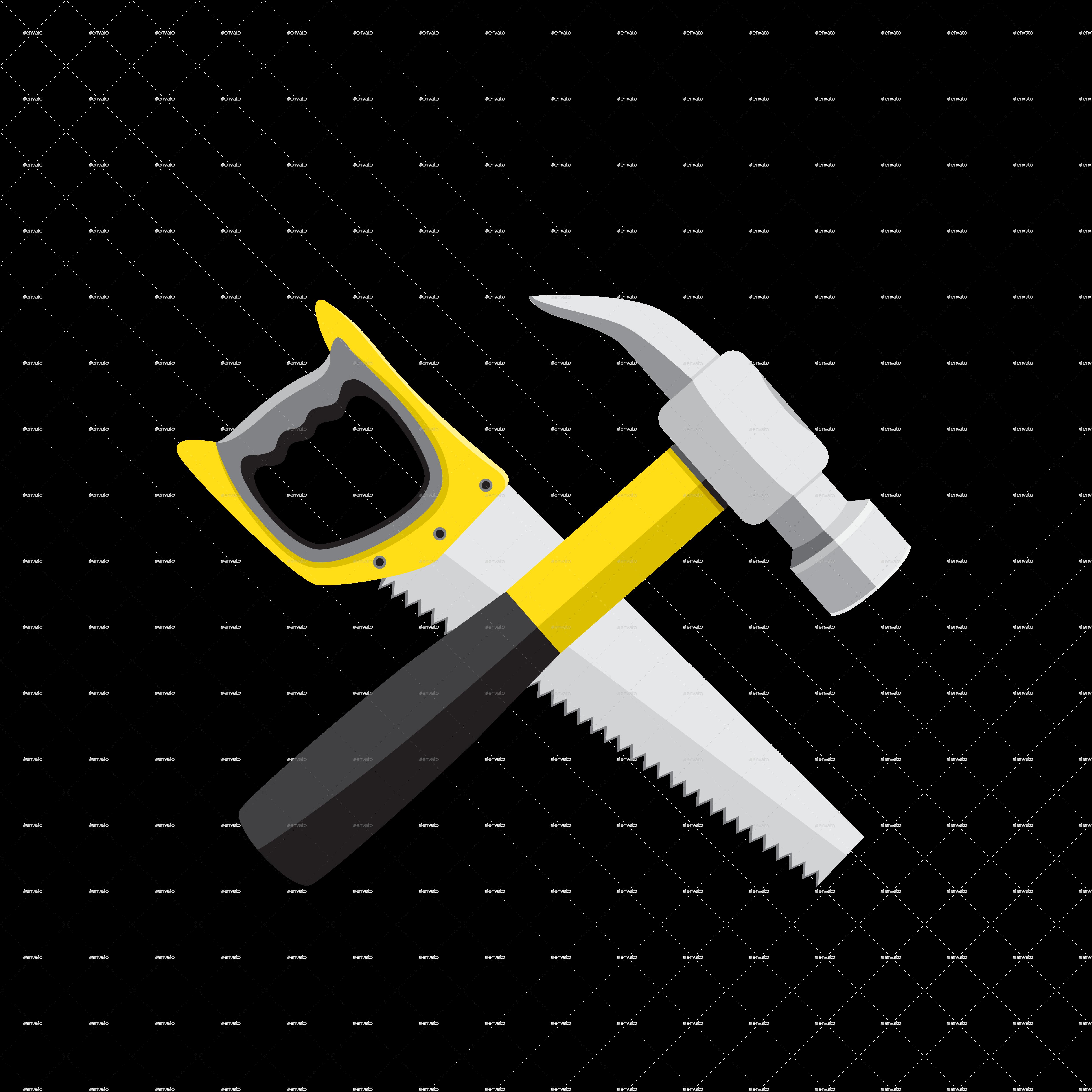 Hammer Hand Saws Tool.