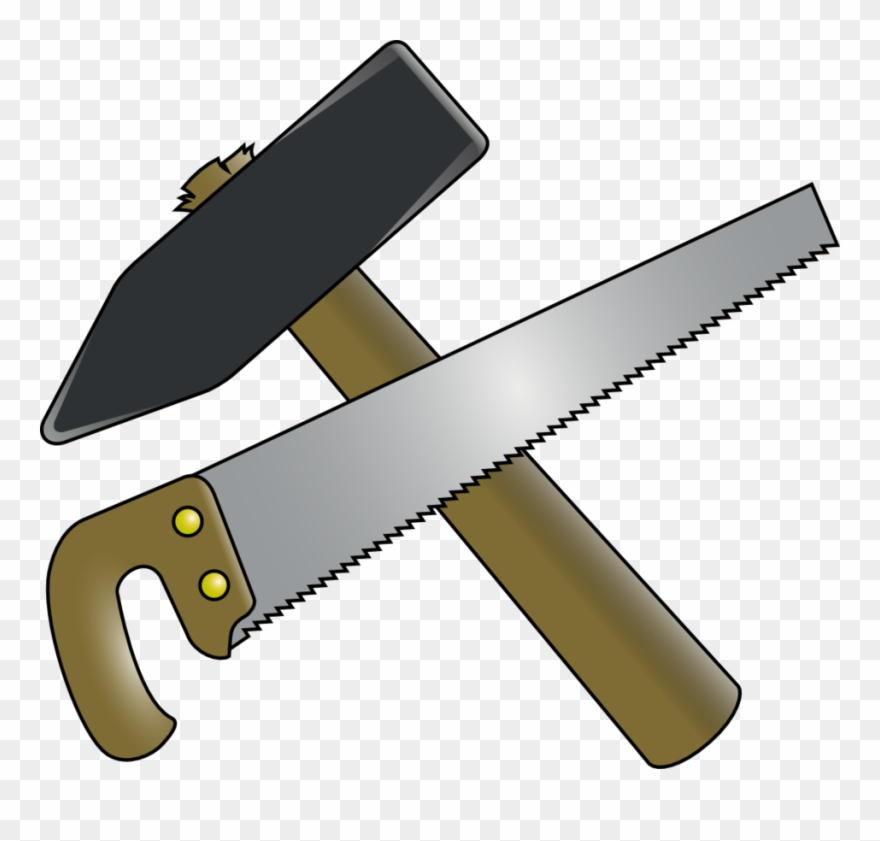 Hammer Saw Clipart.
