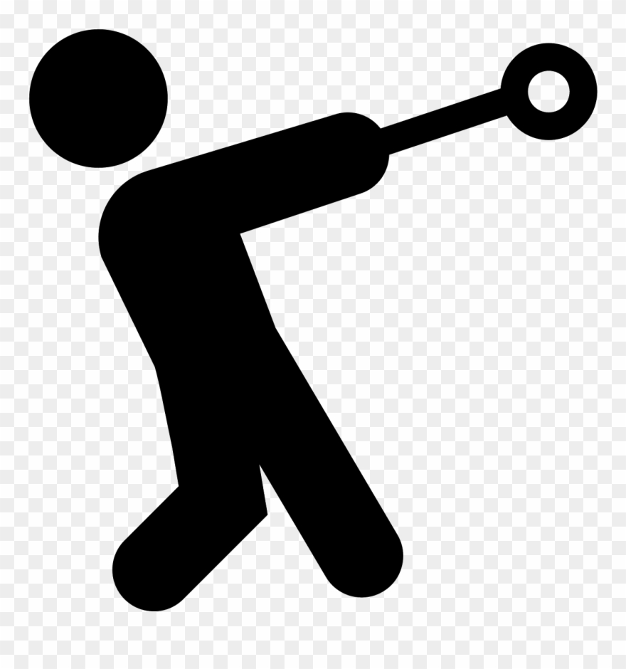 Hammer Throw Filled Icon.