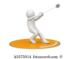 Hammer throw Clipart and Stock Illustrations. 33 hammer throw.