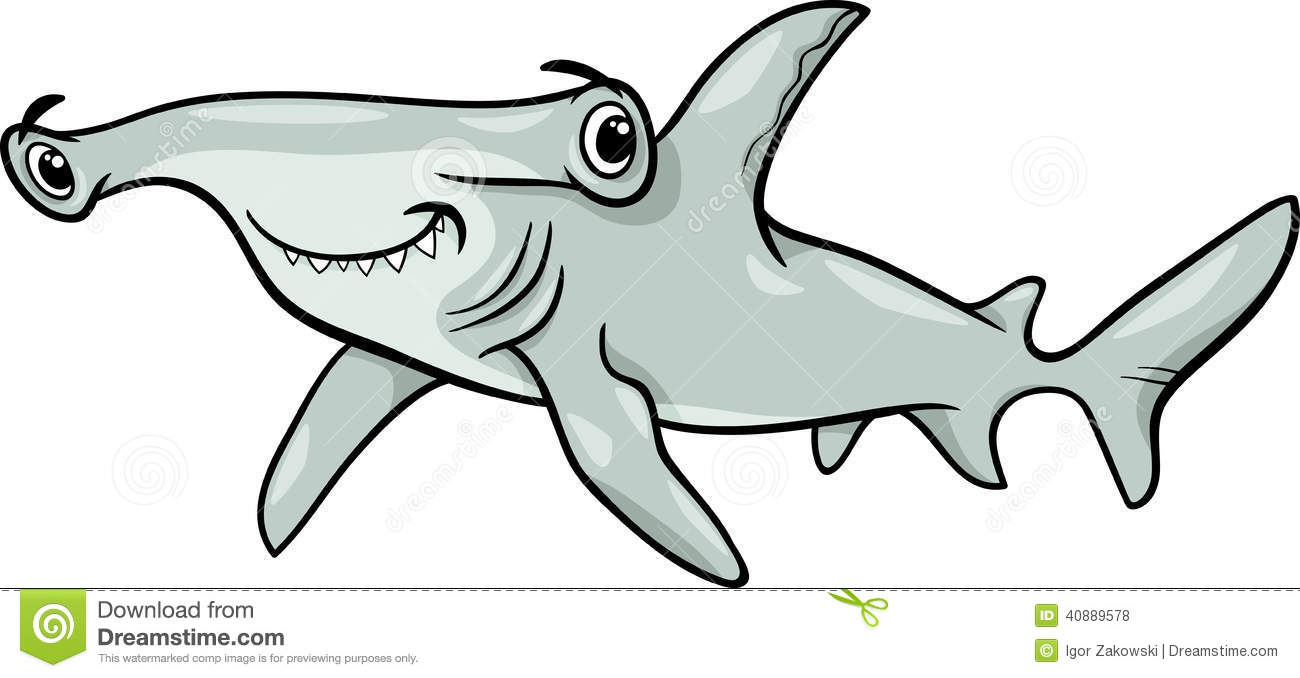 Hammerhead Shark Cartoon.
