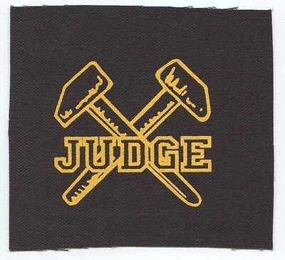 JUDGE hammers logo CLOTH PATCH **FREE SHIPPING** sew on, bringin\' it down  sxe.