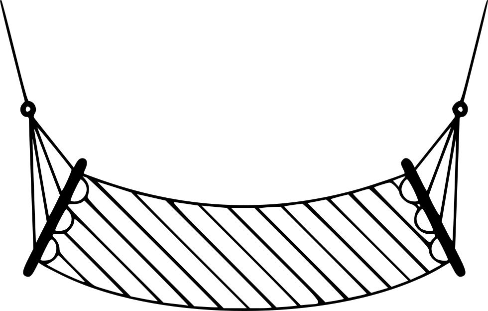 Png File Svg Outline Image Of Hammock.