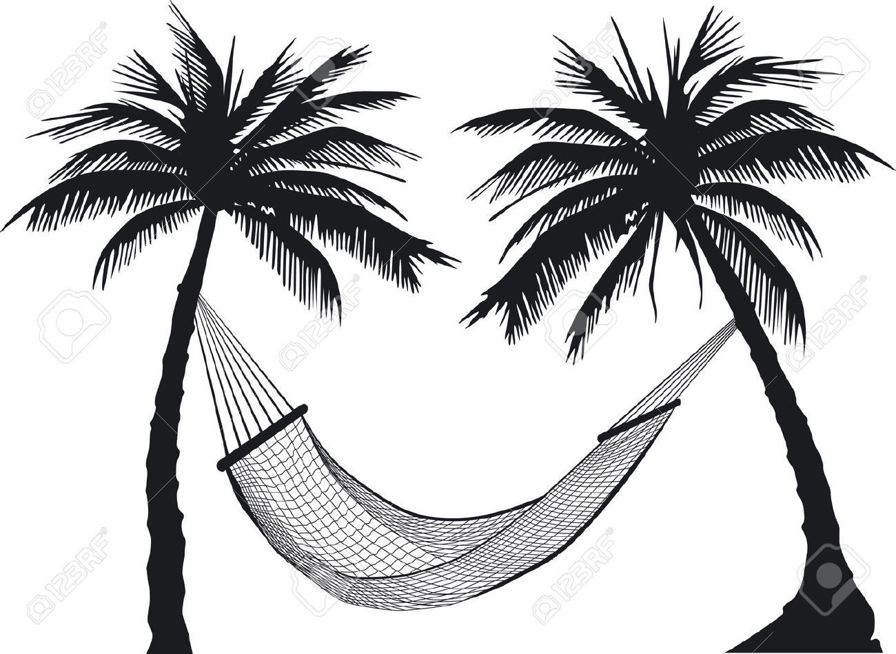 Hammock clipart black and white 10 » Clipart Station.