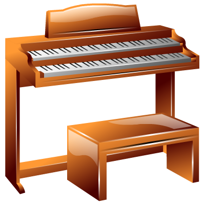 Hammond organ clipart.