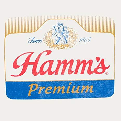 Hamm\'s Logo Ringer Tshirt.