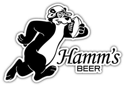 Amazon.com: Hamm\'s Beer Logo Sticker Car Bumper Decal 5\'\' X.