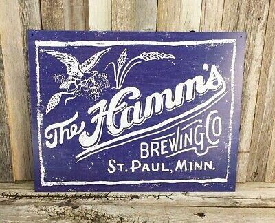 HAMM\'S HAMMS BEER Brewing Co. Bottles New Metal Tin Bar Pub.