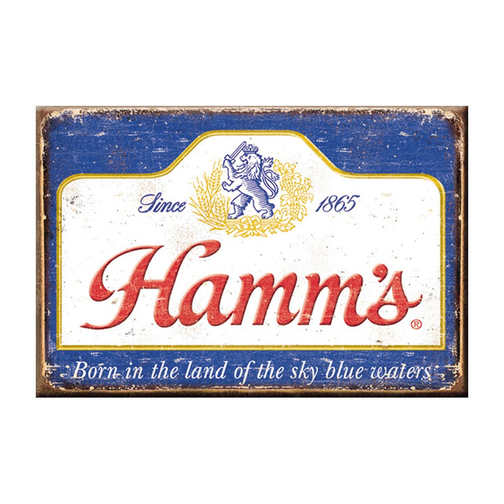 Hamm\'s Faded Logo Magnet.