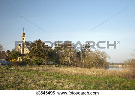 Stock Images of St Michaels and All Angels Church in Clifton.