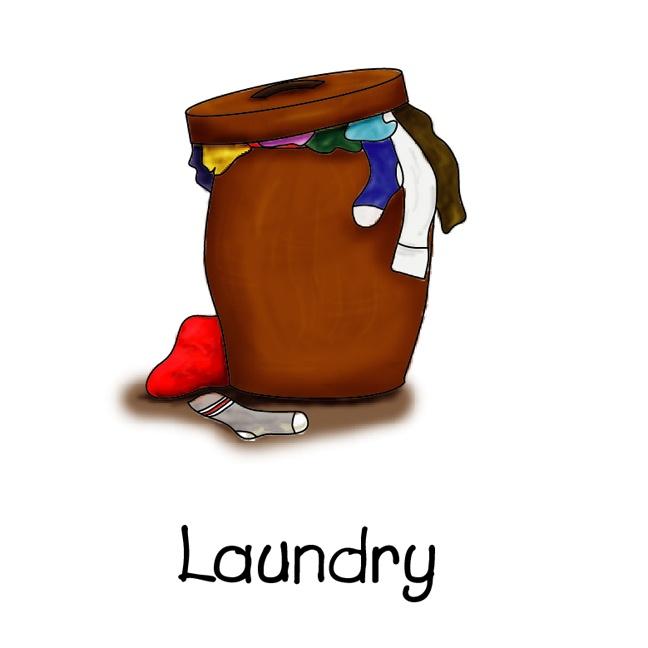 Laundry Hamper Clipart.