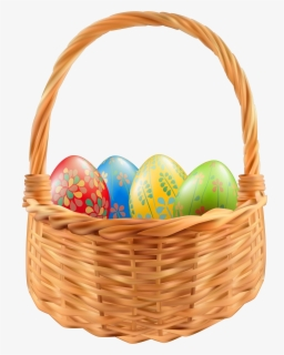 Free Easter Basket Clip Art with No Background.