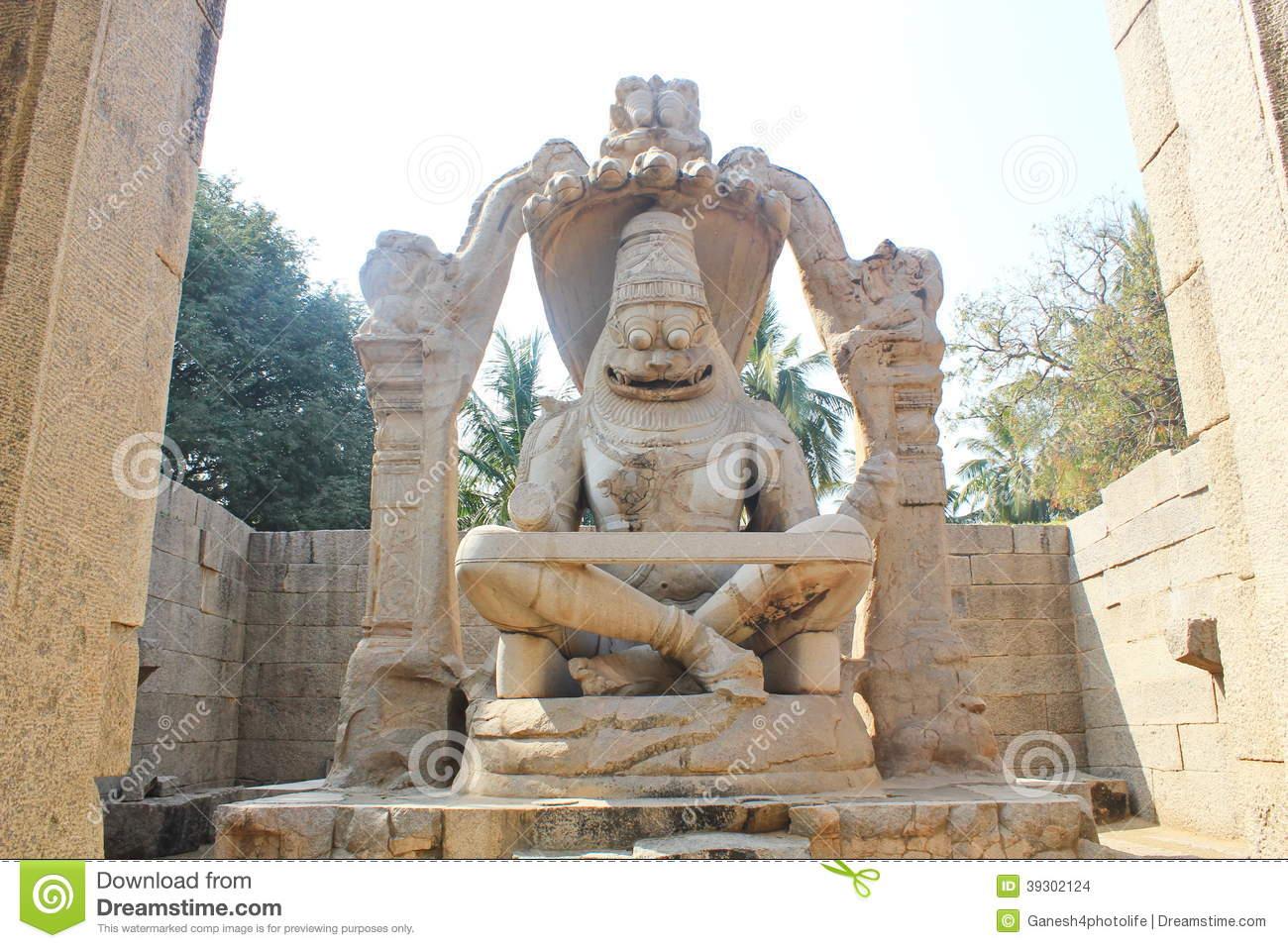 Narasimha Swamy Statue, Hampi, India Editorial Stock Image.