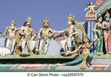 Picture of Sri Murugan Temple near Hampi, India 2014 csp20597070.