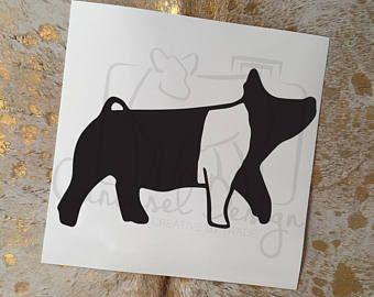 Hampshire Show Pig Vinyl Sticker.