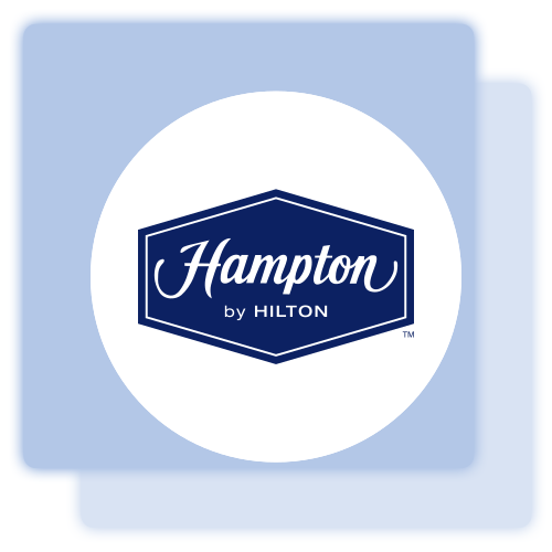 Hampton Inn accent label, #1325032.