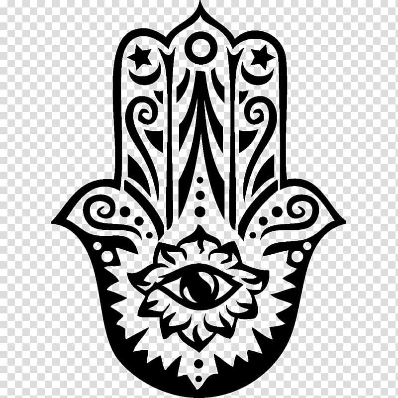 Black Hamsa hand illustration, Hamsa T.