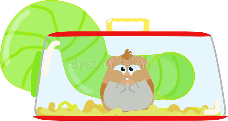 Hamster Cage Stock Illustrations.