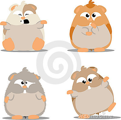 Hamsters Stock Illustrations.
