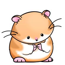 Hamster clipart with tribal art.