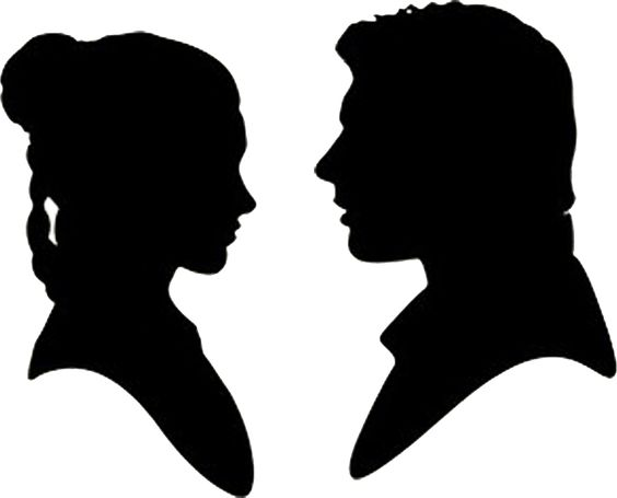 Star Wars Han Solo and Princess Leia Silhouettes!.
