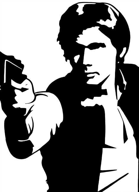 Han Solo Black Silhouette Clipart Clipground