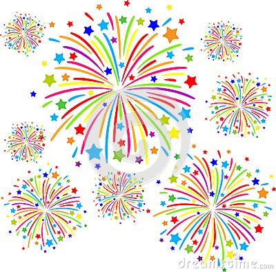 Fireworks Vector Royalty Free Stock Images.