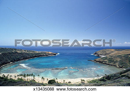 Pictures of Hanauma Bay, (High viewpoint) x13435088.