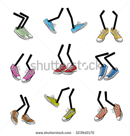 Cartoon Feet Stock Images, Royalty.
