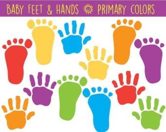 Hand And Feet Cute Clipart.