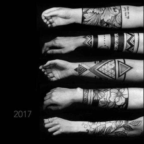 Forearm Band Tattoos.