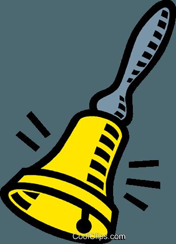 bell, hand bell Royalty Free Vector Clip Art illustration.