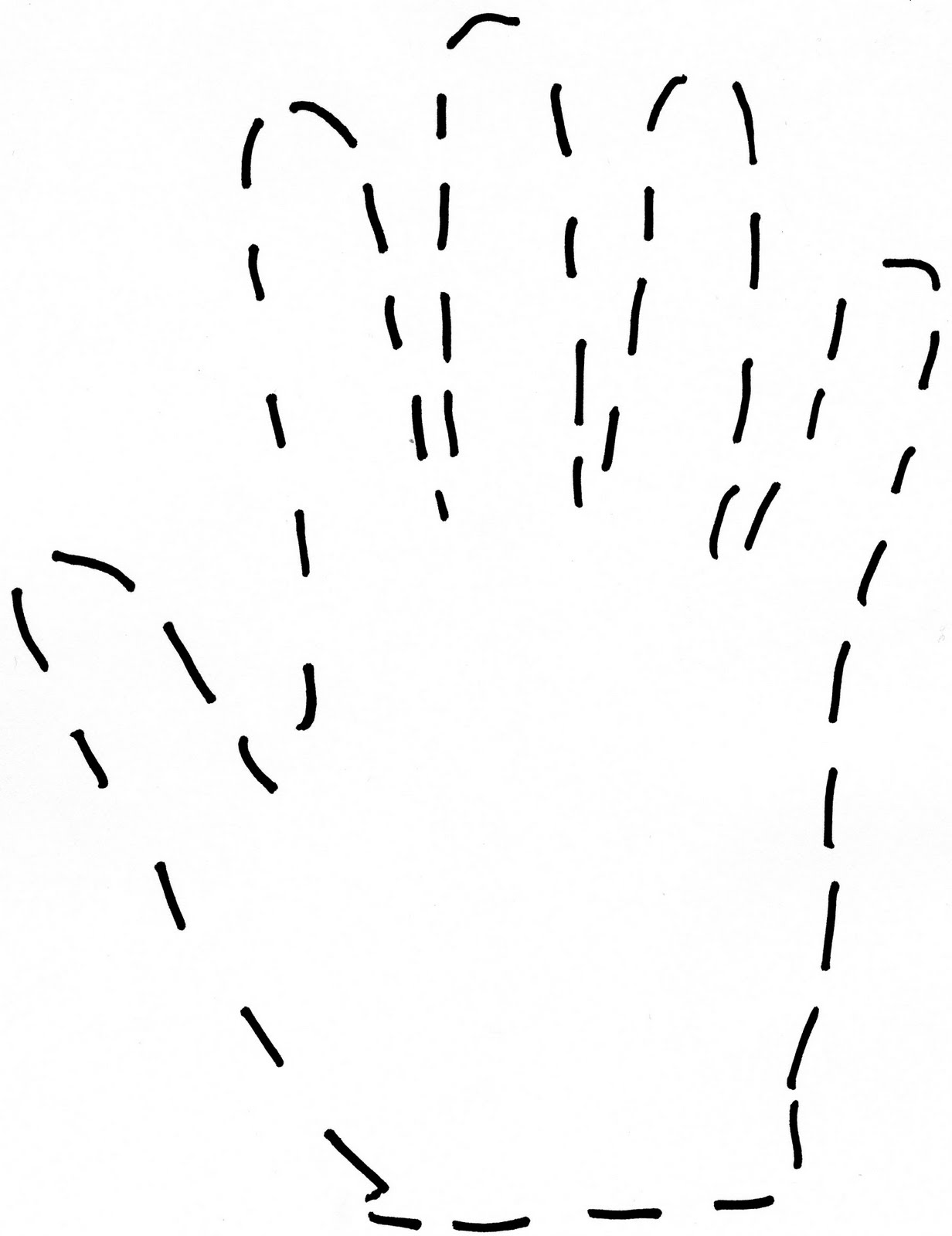 Hand Outline An outline of my hand.