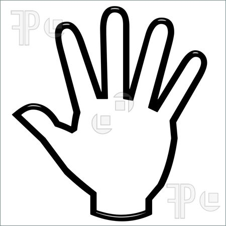 Open Hand Outline Clipart.