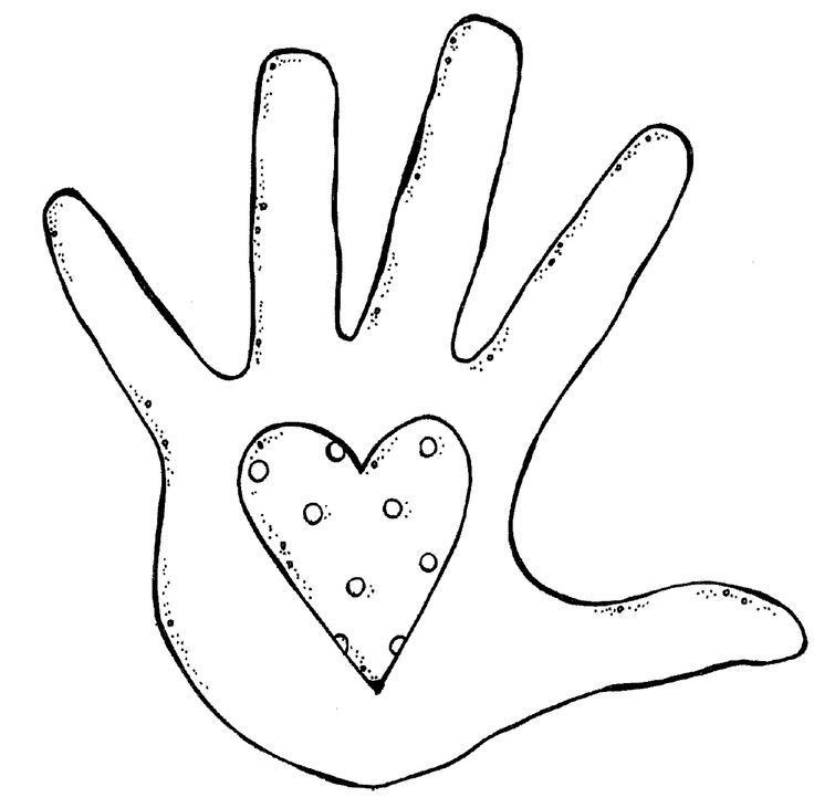 Hands hand outline clipart kid.