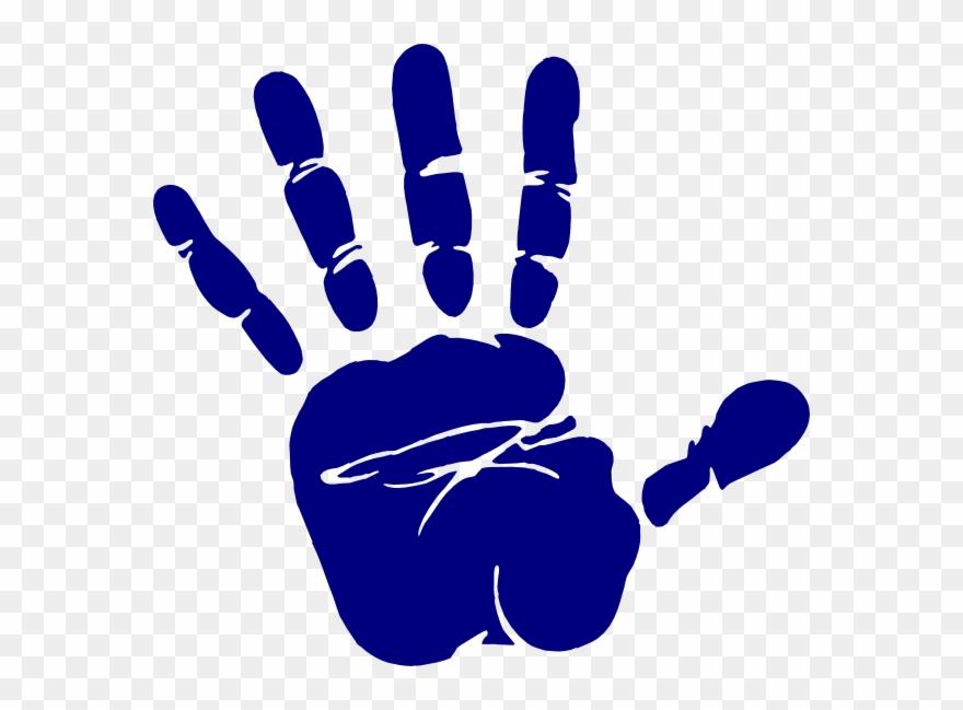 Transparent Stock Blue Hand Print Clip Art At Clker.