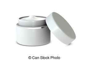 Stock Illustration of Hand cream box.