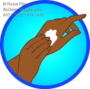 Put On Lotion Clipart.