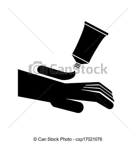 Vectors Illustration of hand cream symbol vector illustration.