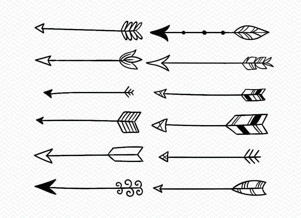 Hand drawn arrow.