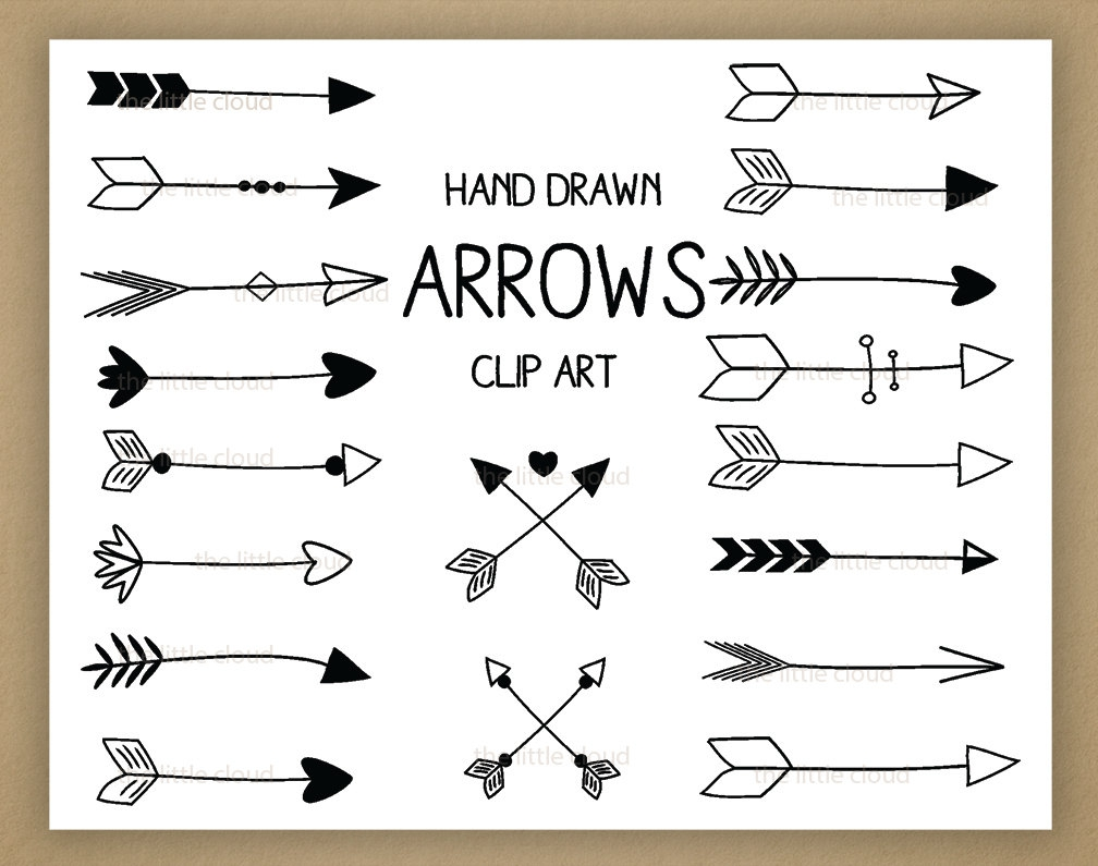 Vintage Hand Drawn Arrow Clipart#2069975.