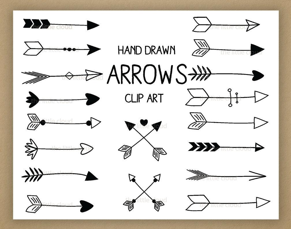 Vintage Hand Drawn Arrow Clipart#2069975.