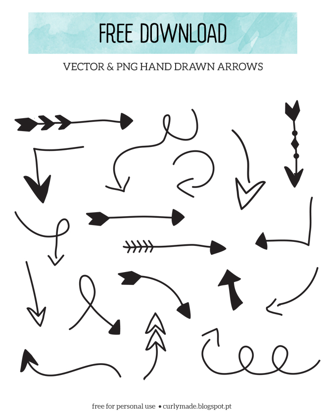 Free Download // Hand Drawn Arrows.