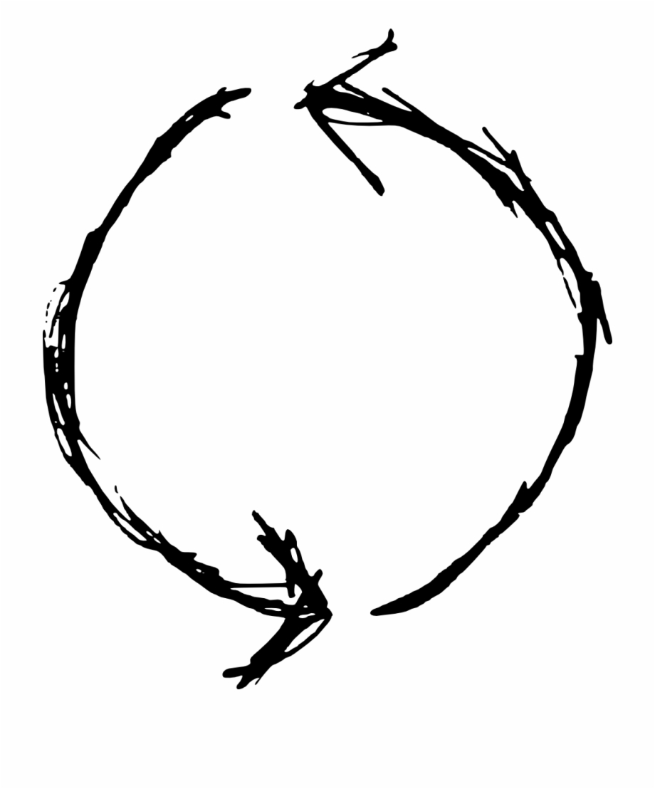 Drawn Circle Transparent Hand Drawn Circle Arrow Png.