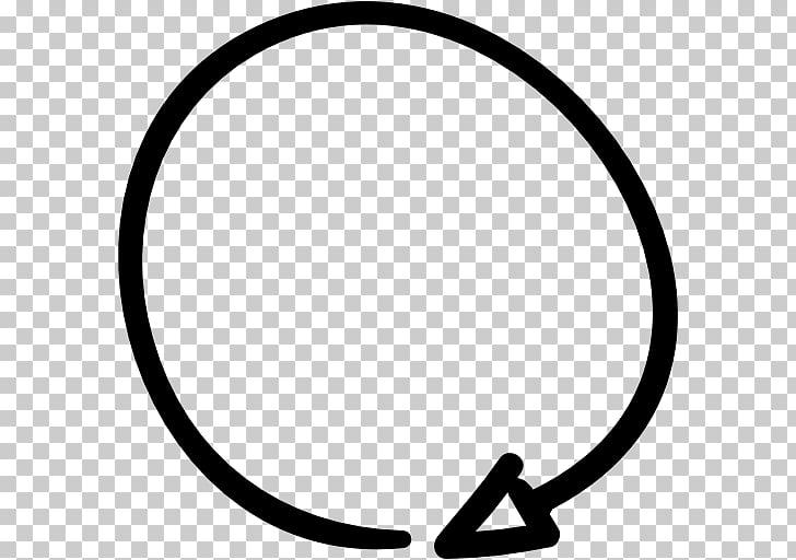 Arrow Circle Rotation Computer Icons , handdrawn circular.