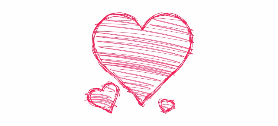 doodle #hearts #pink #red #handdrawn #pen #drawn #scribble.