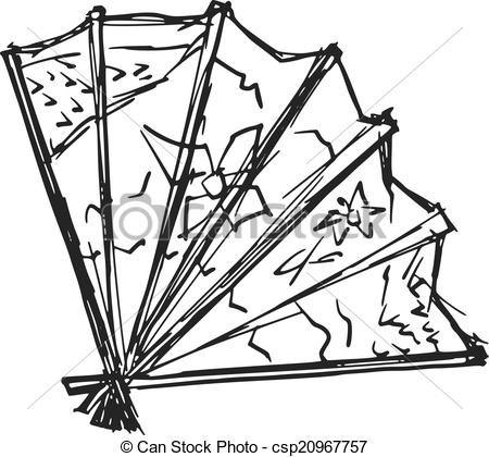 Clipart Vector of Japanese fan.