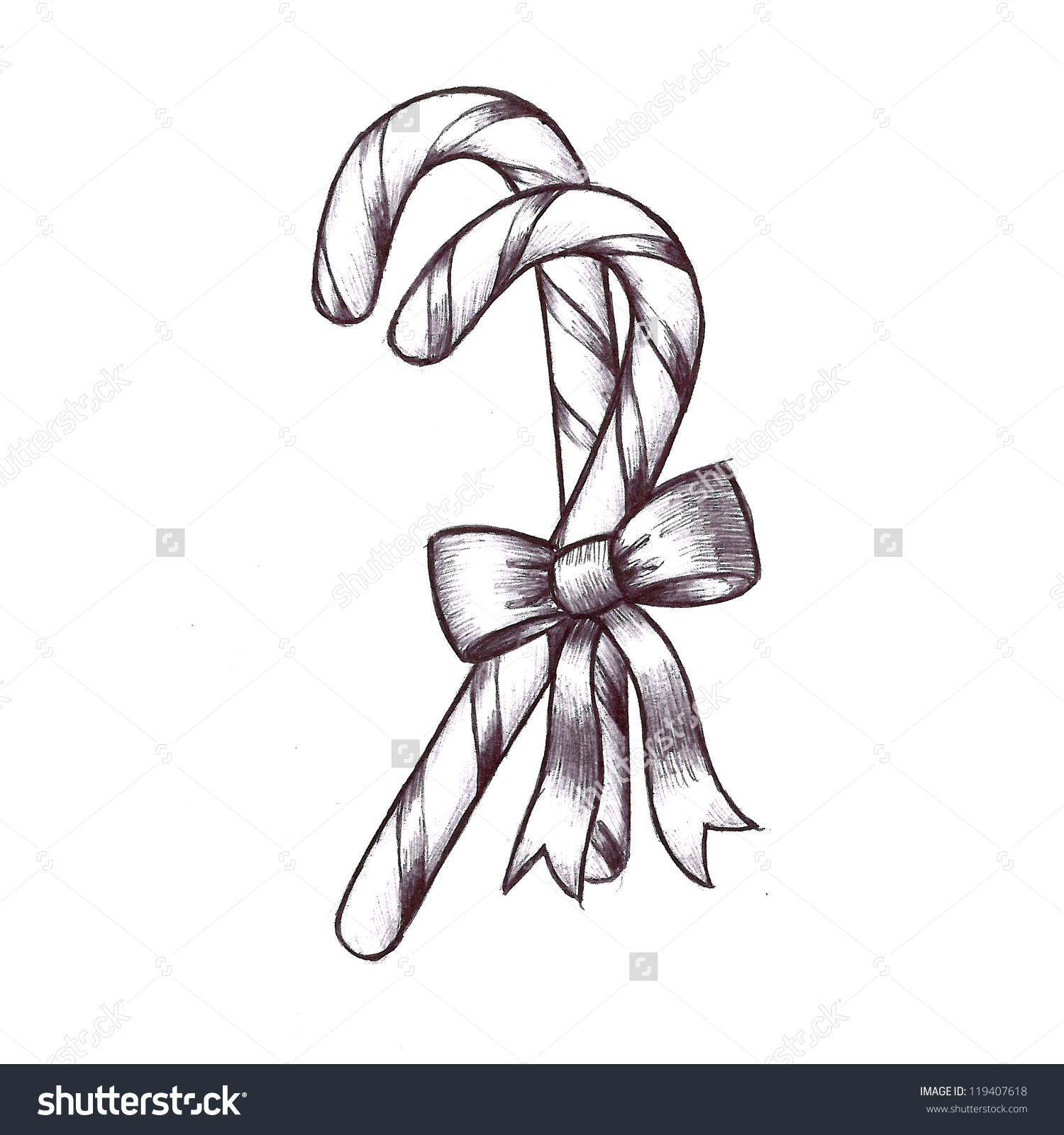 Hand Drawn Sketch Christmas Clip Art Stock Illustration 119407618.