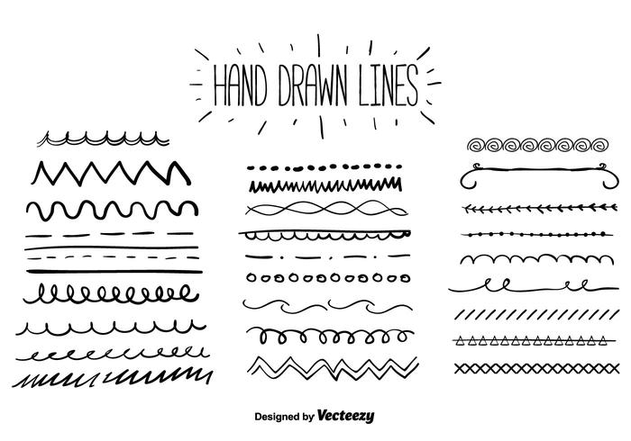 Hand Drawn Lines Vector.